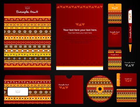 Corporate style. 11 templates: blank, card, pen, cd, note-paper, envelope, business card.