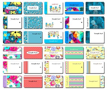 for women: 30 various business cards for women Illustration