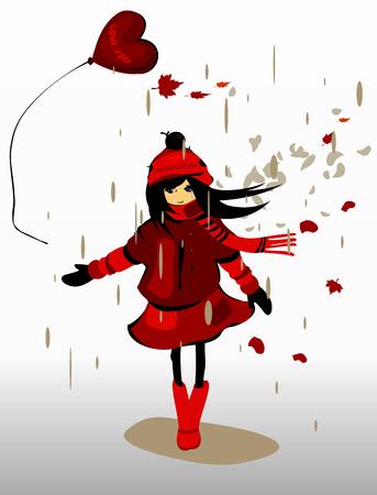 fille pleure: Conceptuel illustration vectorielle de l'amour malheureux.