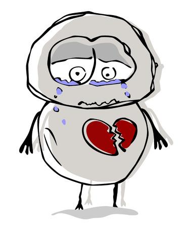 conceptual: Conceptual vector illustration about unhappy love.