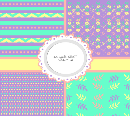 Set of backgrounds with abstract patterns.