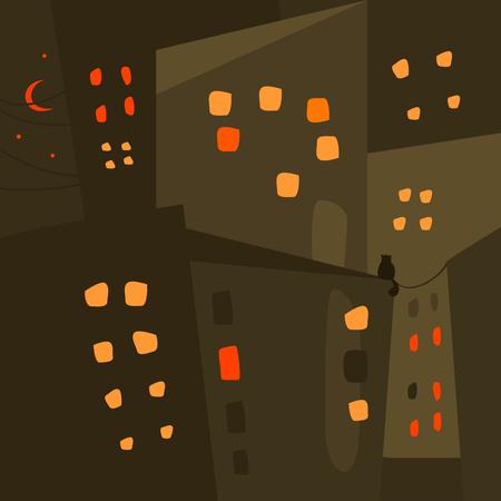 night: Night city.