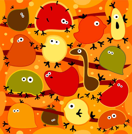 cute children: Vector seamless background with funny abstract animals.