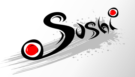 font design: template sushi. design with stylized font.