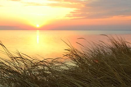 Beautiful sunset at the Black sea. Ukraine.