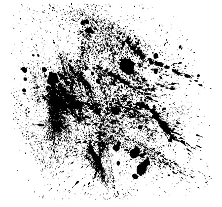 Abstract vector background with black splatters. Illustration