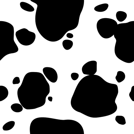 Seamless vector background. Cow print.