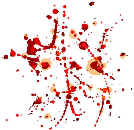 Abstract vector background with blood splatters.