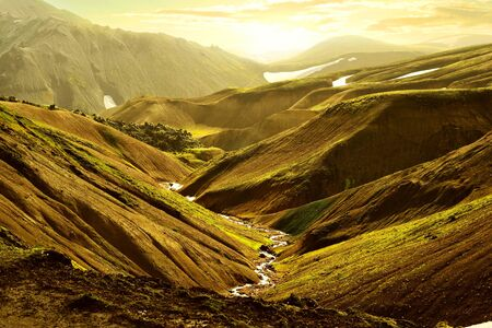 Beautiful mountains in Iceland.