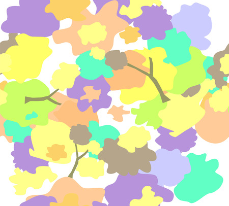 Seamless vector background with simple floral print. Ilustracja