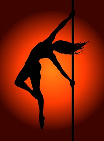 Romantic dancing girl in soft light. Vector illustration. Ilustrace