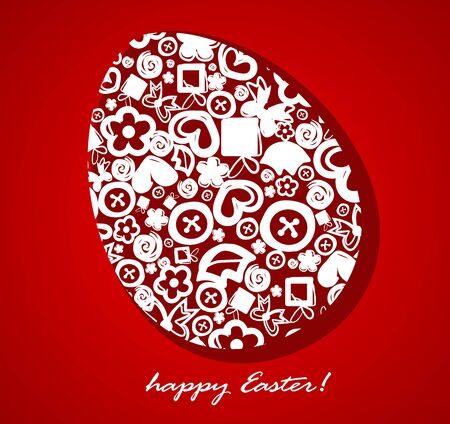 Decorative Easter egg. Vector illustration.