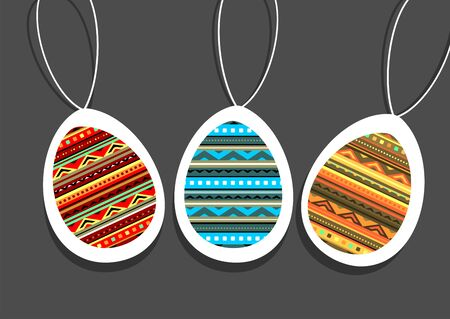 Vector illustration with abstract Easter eggs.