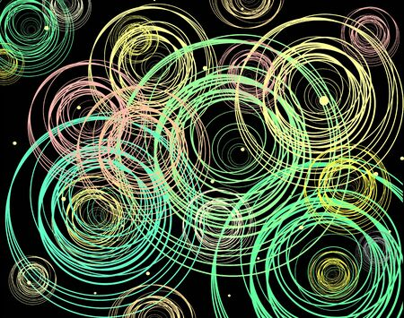 Abstract vector background with bright multicolored circles.