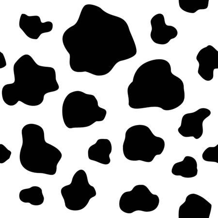 Seamless vector cow print.