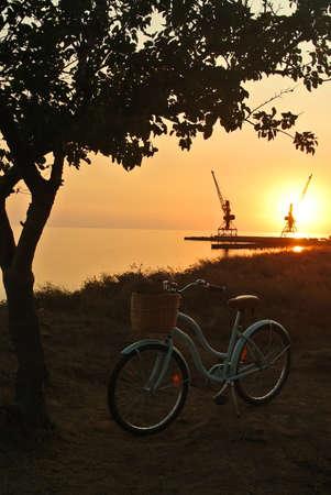 Beautiful sea view on the sunset.
