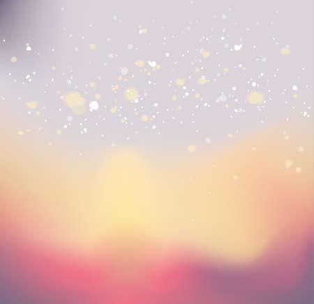 Abstract winter background with snowflakes in pastel tones. Illusztráció