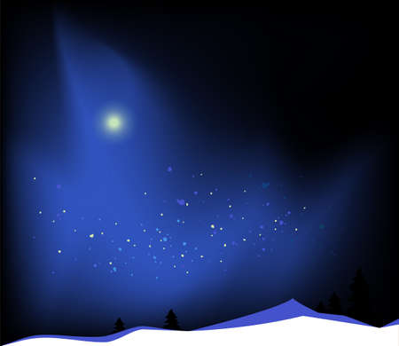Beautiful winter landscape. Vector illustration.
