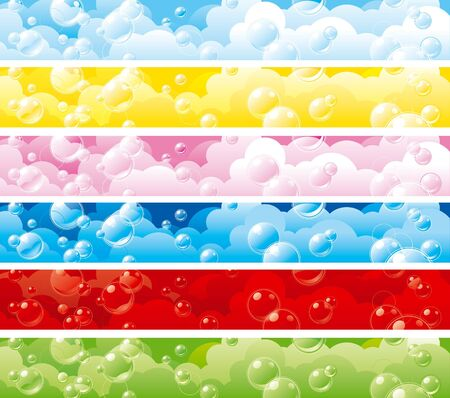 header image: some colorful banners with bubbles Illustration