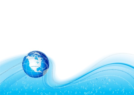 Global Communication. Vector abstract background with globe Illustration