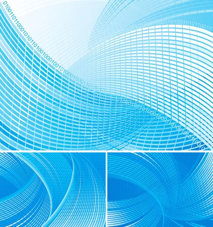 abstract backgrounds with many curves.  Stock Vector - 10510359