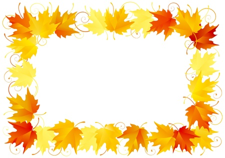 Autumn leaves border Stock Vector - 10330913
