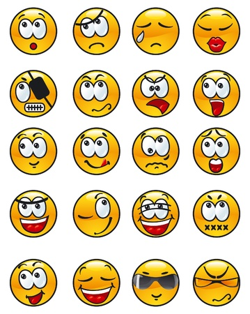 insult: Set of avatars. set of many  various emotions.