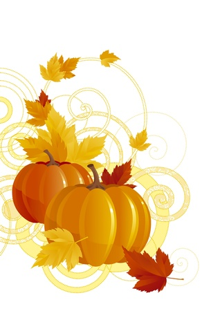 background with pumpkins Stock Vector - 10330919