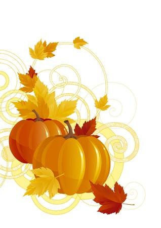 background with pumpkins Illustration