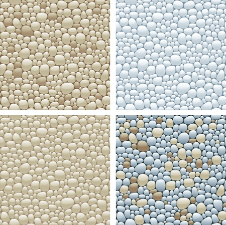 seamless patterns with stones Vector
