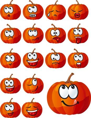 insulto: conjunto de calabazas de Halloween lindos
