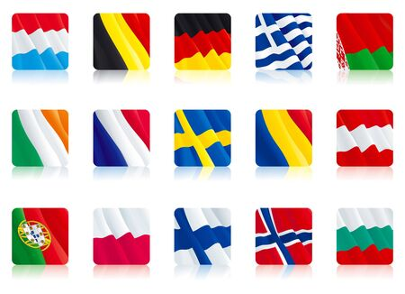 Set icon country flags Vector