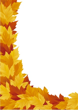 autumn background with red, orange and yellow leaves Vector
