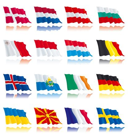 Flags set of world nations 2 Stock Vector - 11082940