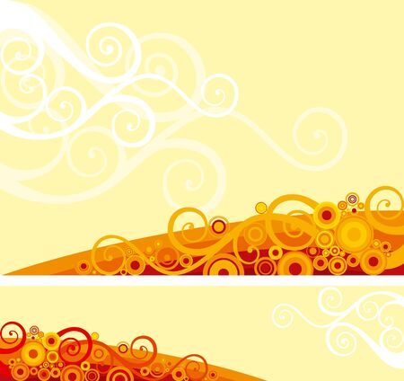 Vector background and banner of ornate elements on abstract background Stock Vector - 11082935