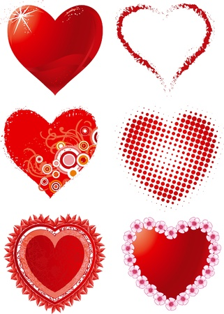 Set hearts. Vector set of hearts for Valentine Vector