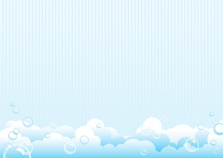 soap bubbles: Seifenblasen. Blauer Hintergrund der Seifenblasen. Vector Illustration
