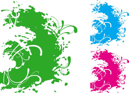 Green background. Vector abstract green background at grunge style  Stock Vector - 11837465