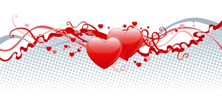 Heart decoration. Vector abstract Valentine Stock Vector - 11837472