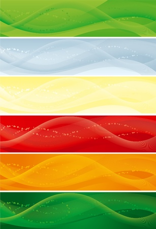 Vector set of abstract  backgrounds with  blend lines for internet banners