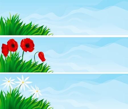 Floral banners   Illustration
