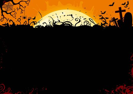 grave stone: Halloween background
