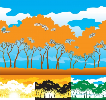 Trees silhouette Stock Vector - 15777698