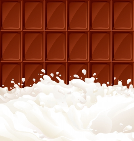 Milk and dark Chocolate  Abstract background with milk and chocolate Bar There are no meshes in this image   Stock Vector - 15884475