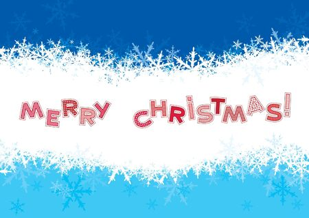 marry christmas: Marry christmas    Christmas  background with snowflakes and text  Marry christmas     Illustration