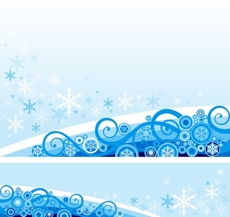Snow background  abstract  background and banner with snowflakes   Vector
