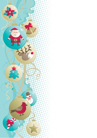 Christmas background  Vector background of baubles with christmas decorations Stock Vector - 16258994