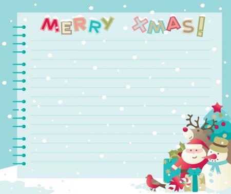 Weihnachten Hintergrund mit Kopie Raum Vektor Hintergründe der Kugeln mit Santa, Schneemann, Rudolph The Red-nosed Reindee und Weihnachtsschmuck Standard-Bild - 16600083