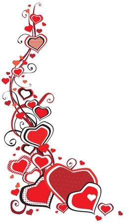 Abstrakte Grenze von vielen Herzen auf weißem Hintergrund Standard-Bild - 17490560