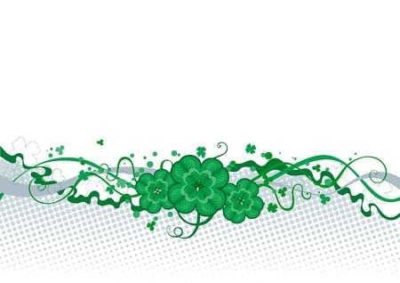four leafs clover: Frontera del tr�bol de San Patricio abstracto Borber s Day con el tr�bol